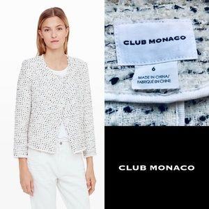 Club Monaco Larue Tweed Boucle Jacket Blazer 6